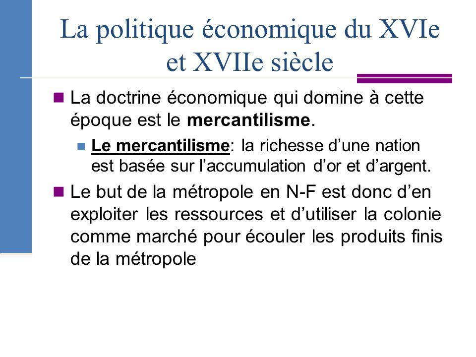 La politique économique du XVIe et XVIIe siècle