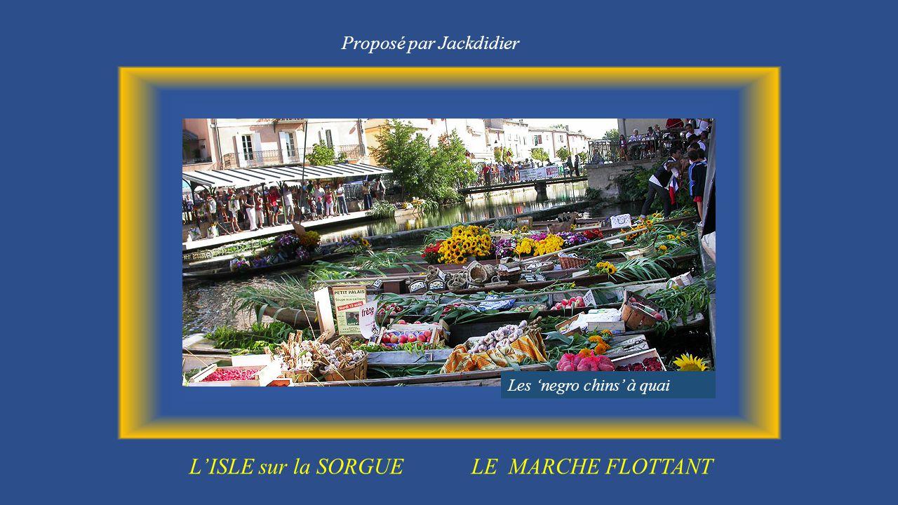L isle sur la sorgue le marche flottant ppt t l charger - Le jardin du quai isle sur la sorgue ...