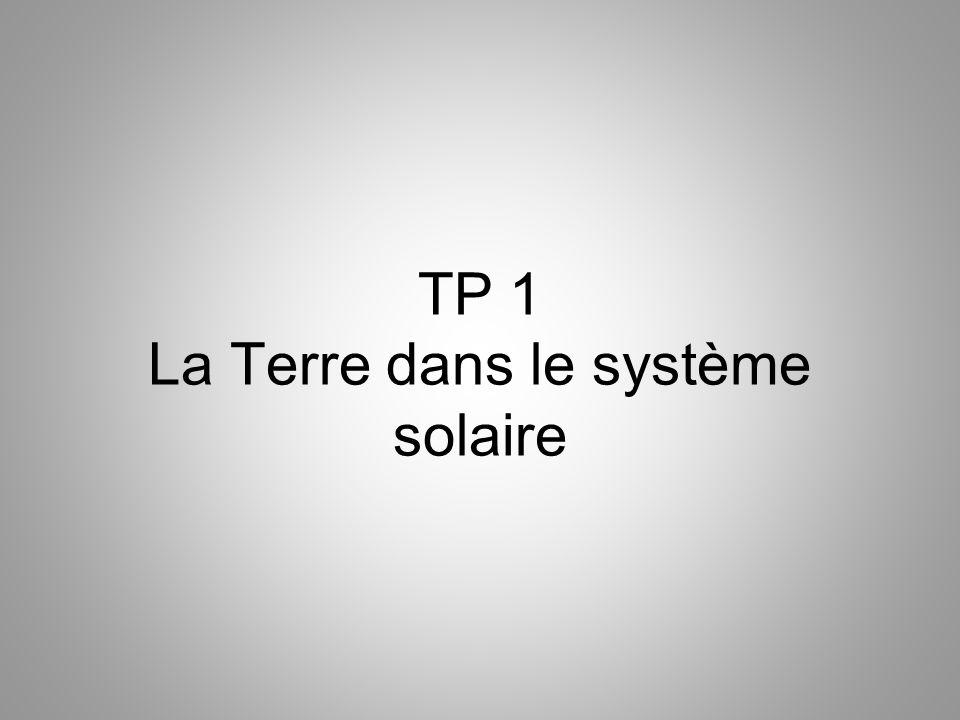 TP 1 La Terre dans le système solaire