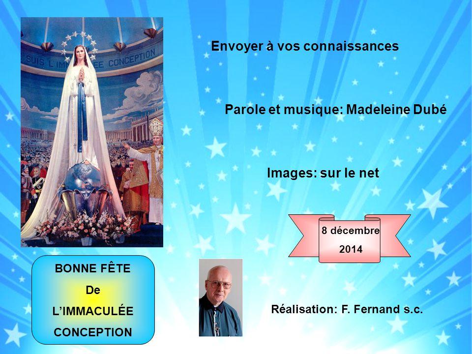Parole et musique: Madeleine Dubé Réalisation: F. Fernand s.c.