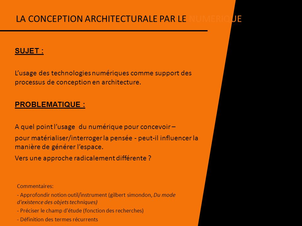 la conception architecturale par le numerique ppt video