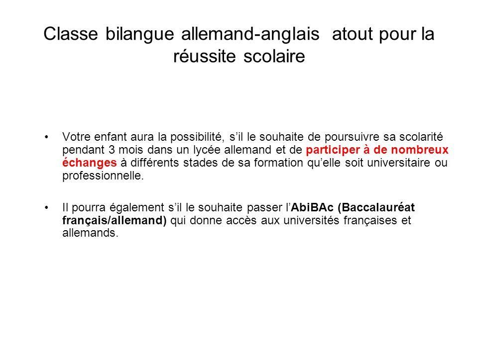 La classe bilangue allemand anglais ppt t l charger - Office allemand d echanges universitaires ...