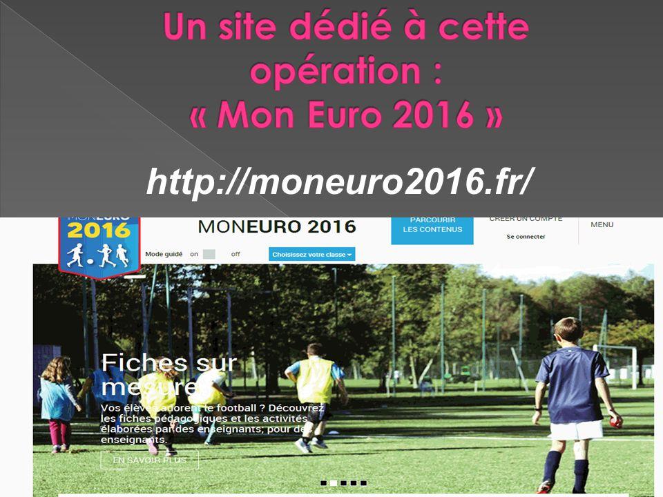 Un site dédié à cette opération : « Mon Euro 2016 »