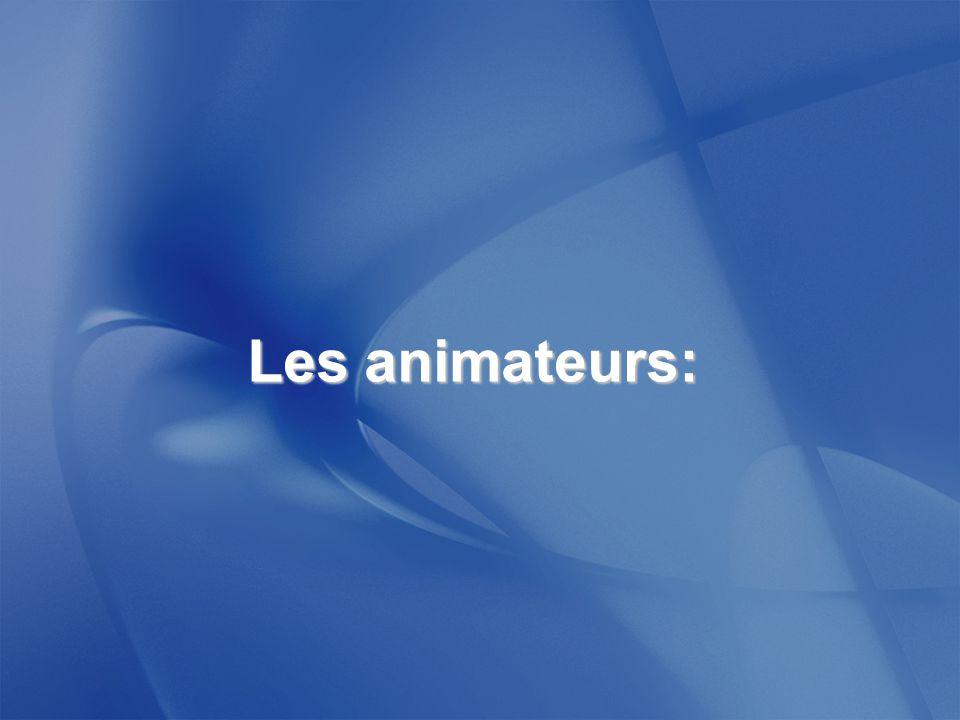 Les animateurs: 17
