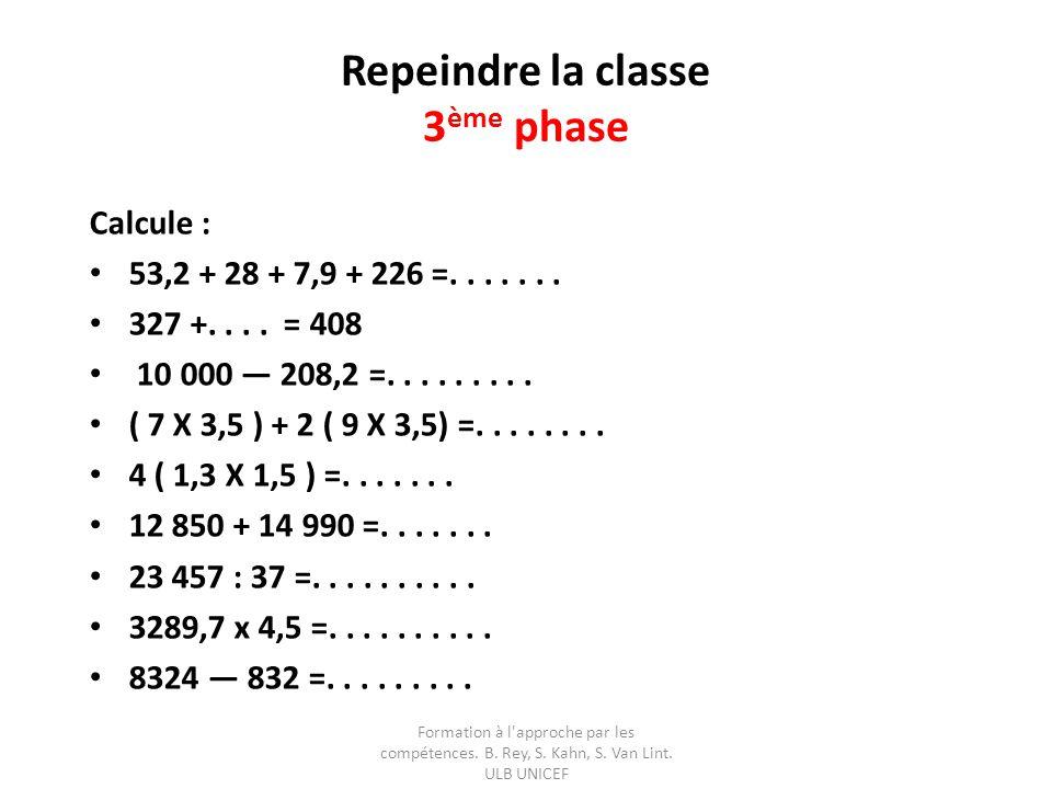 Repeindre la classe 3ème phase