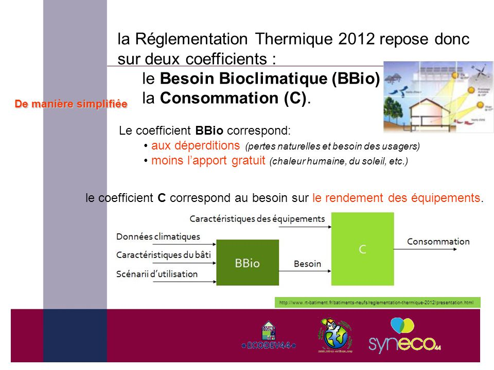 Maitriser l nergie dans les b timents ppt video online for Coefficient thermique parpaing et brique