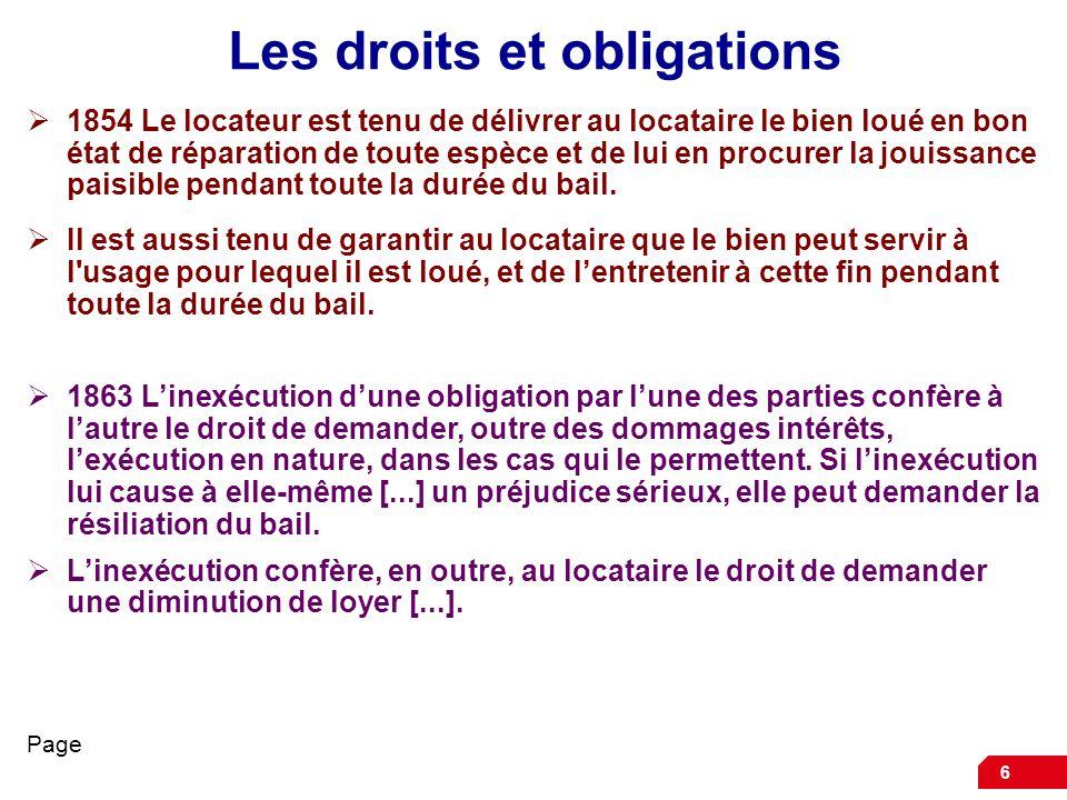 Le droit du locataire - Droit et devoir du locataire ...