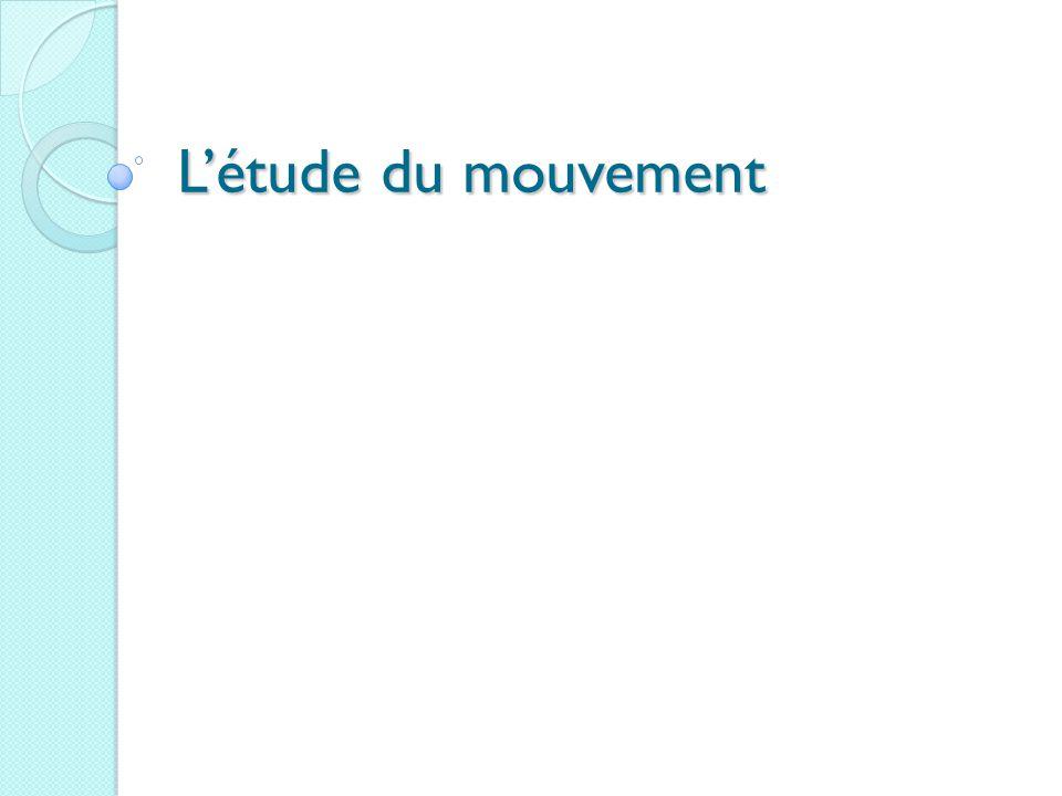 L'étude du mouvement