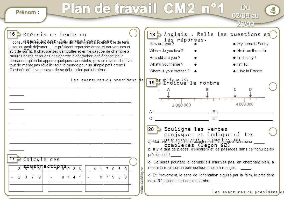 Plan De Travail En Anglais #12: 4 Plan .