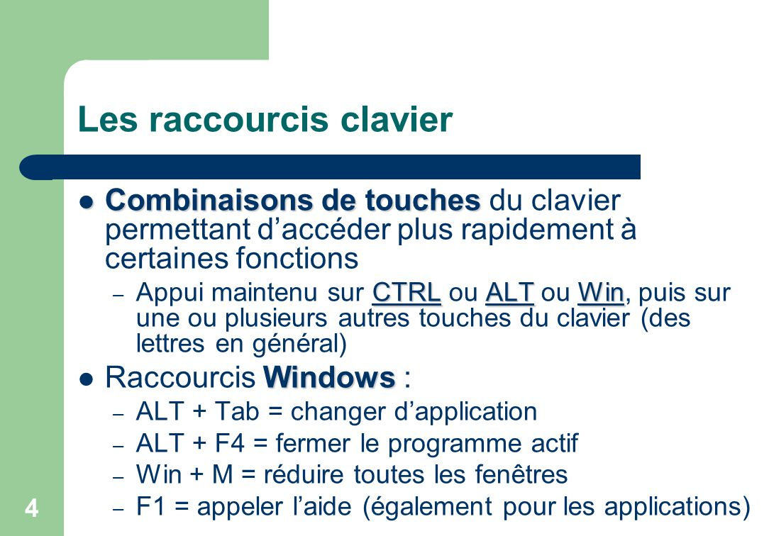 Traitement de texte ppt video online t l charger for Raccourci clavier changer de fenetre