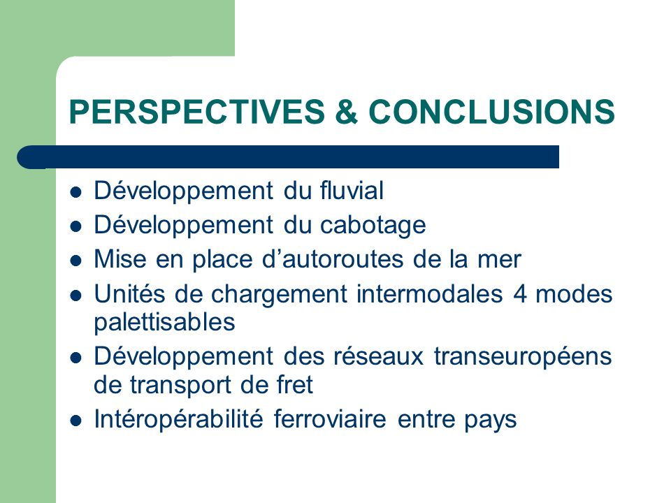 PERSPECTIVES & CONCLUSIONS