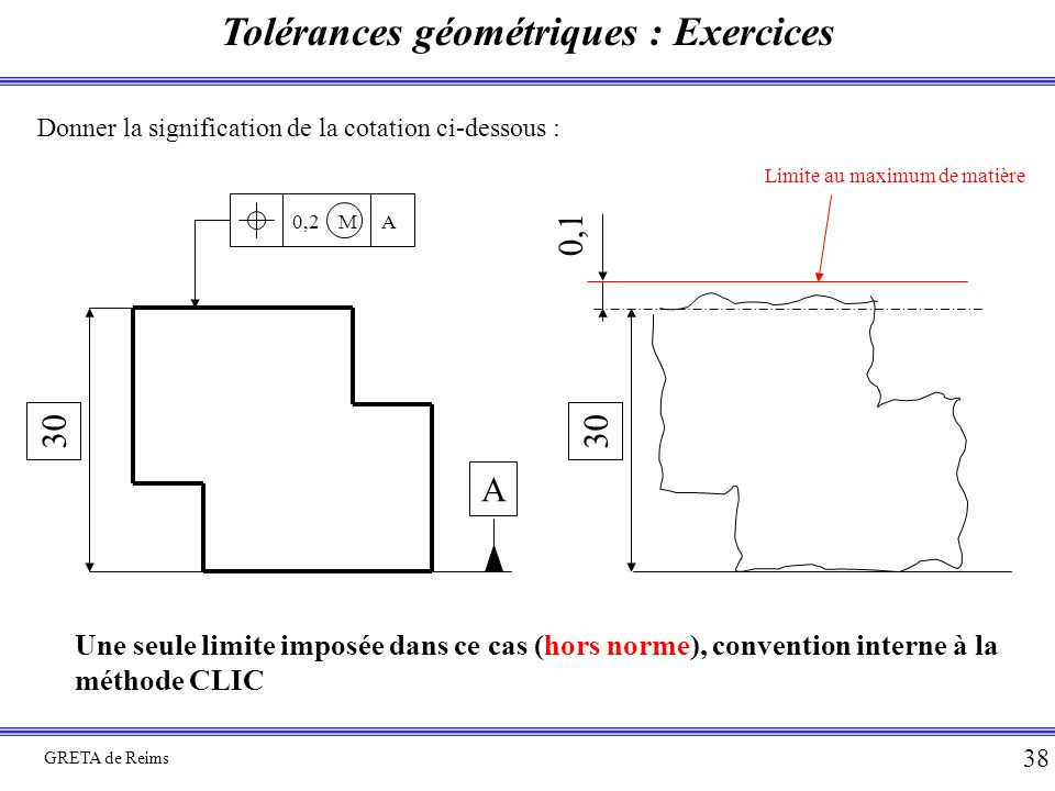 Tolérances géométriques : Exercices