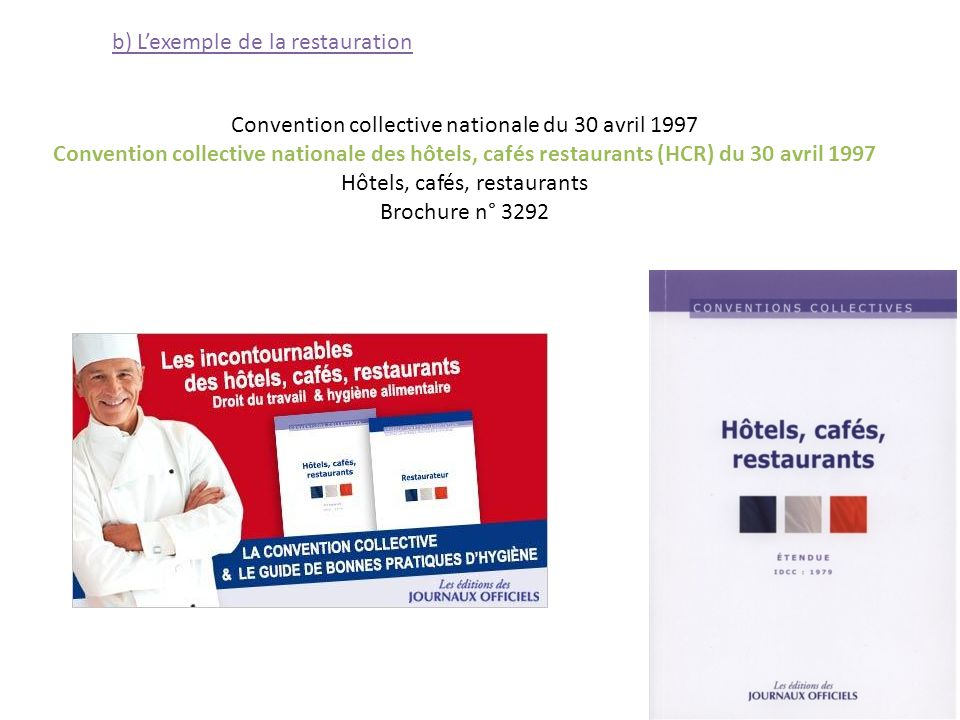 Travail emploi ch mage ppt t l charger for Convention restauration collective