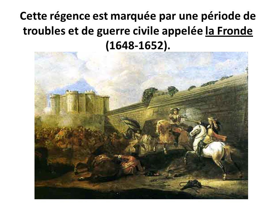 ŒUVRES CHRÉTIENNES DES FAMILLES ROYALES DE FRANCE - (Images et Musique)- année 1870  Cette+r%C3%A9gence+est+marqu%C3%A9e+par+une+p%C3%A9riode+de+troubles+et+de+guerre+civile+appel%C3%A9e+la+Fronde+%281648-1652%29.