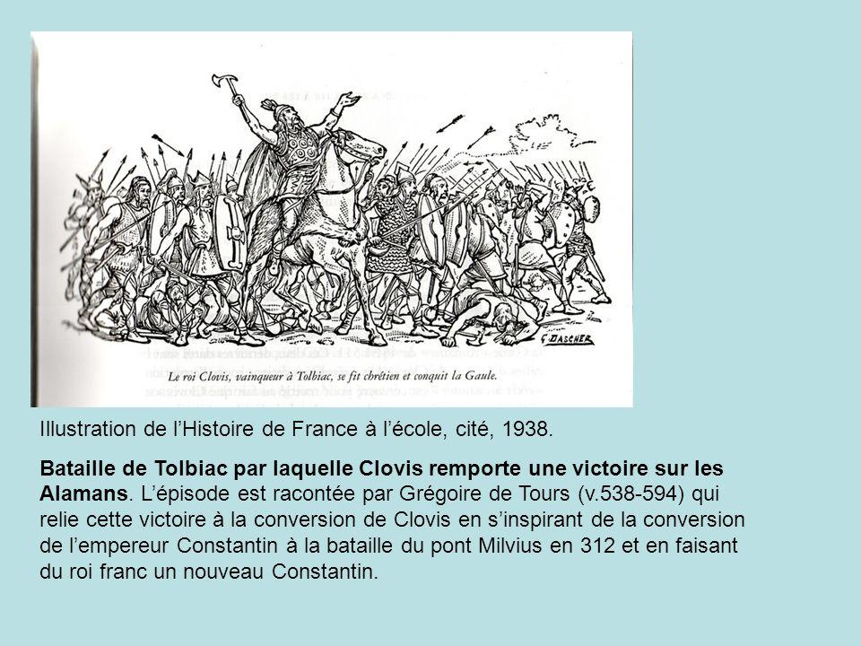 Illustration de l'Histoire de France à l'école, cité, 1938.