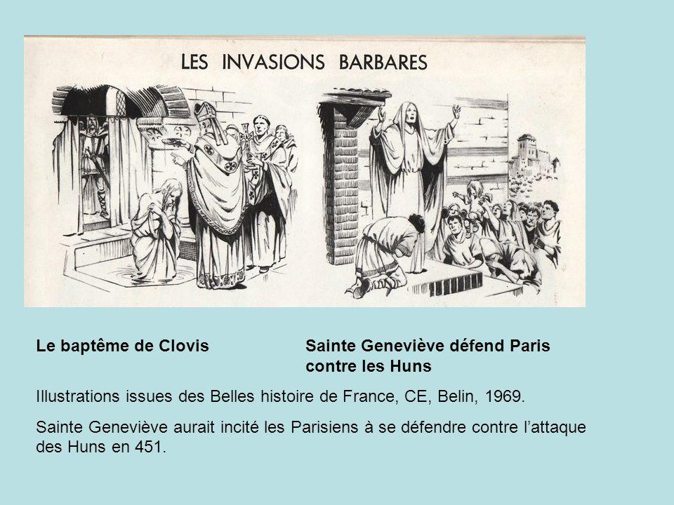 Le baptême de Clovis Sainte Geneviève défend Paris contre les Huns