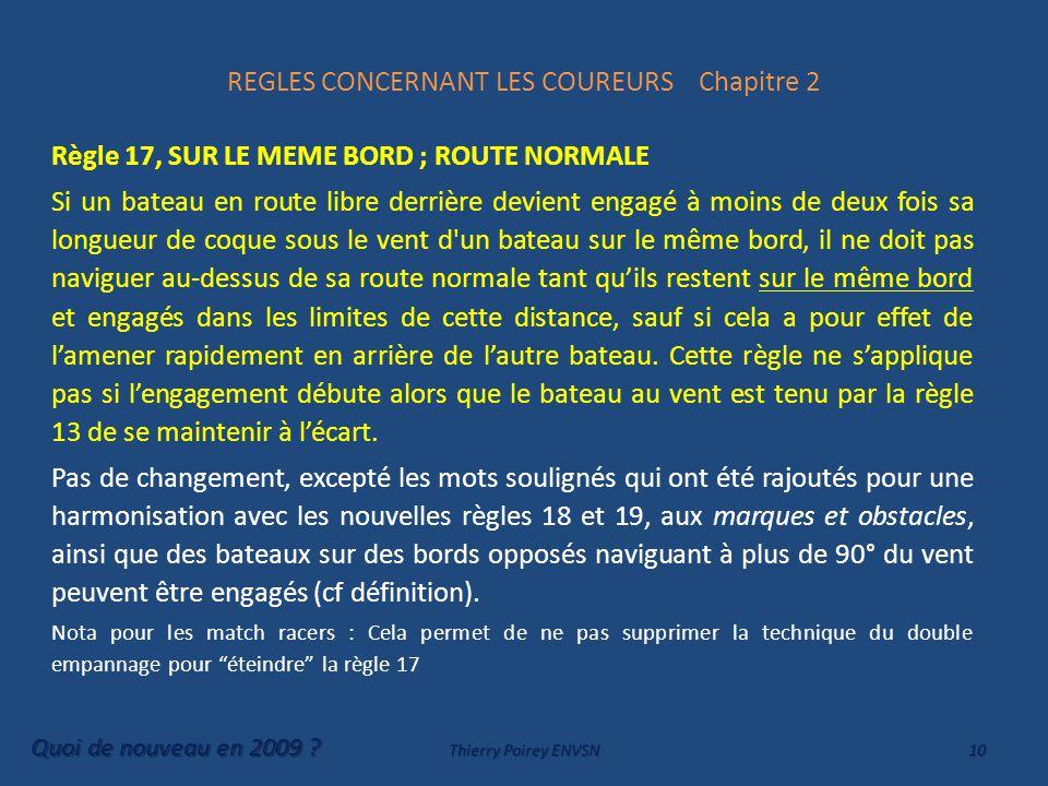 REGLES CONCERNANT LES COUREURS Chapitre 2