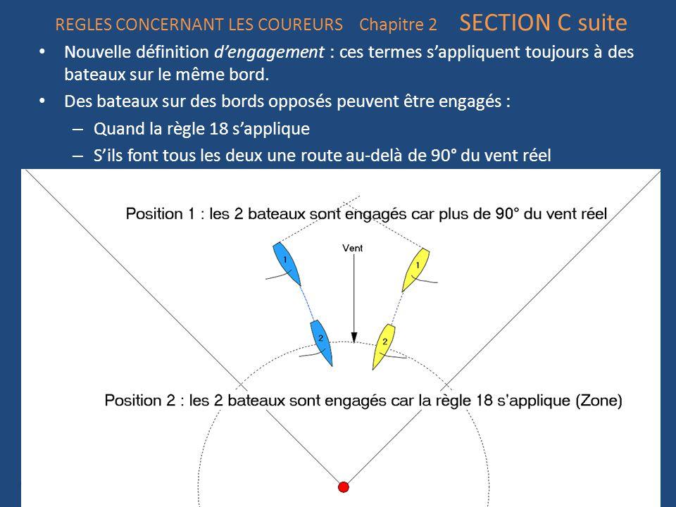 REGLES CONCERNANT LES COUREURS Chapitre 2 SECTION C suite