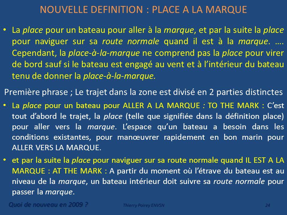 NOUVELLE DEFINITION : PLACE A LA MARQUE