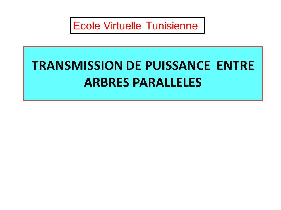 TRANSMISSION DE PUISSANCE ENTRE ARBRES PARALLELES