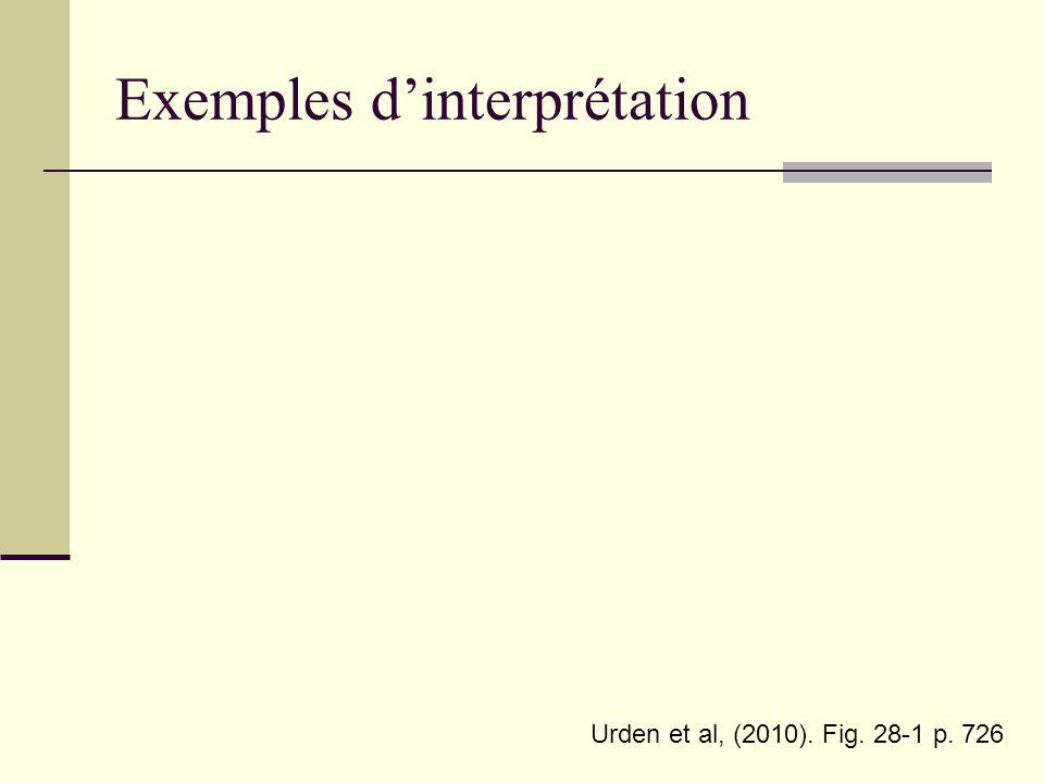 Exemples d'interprétation