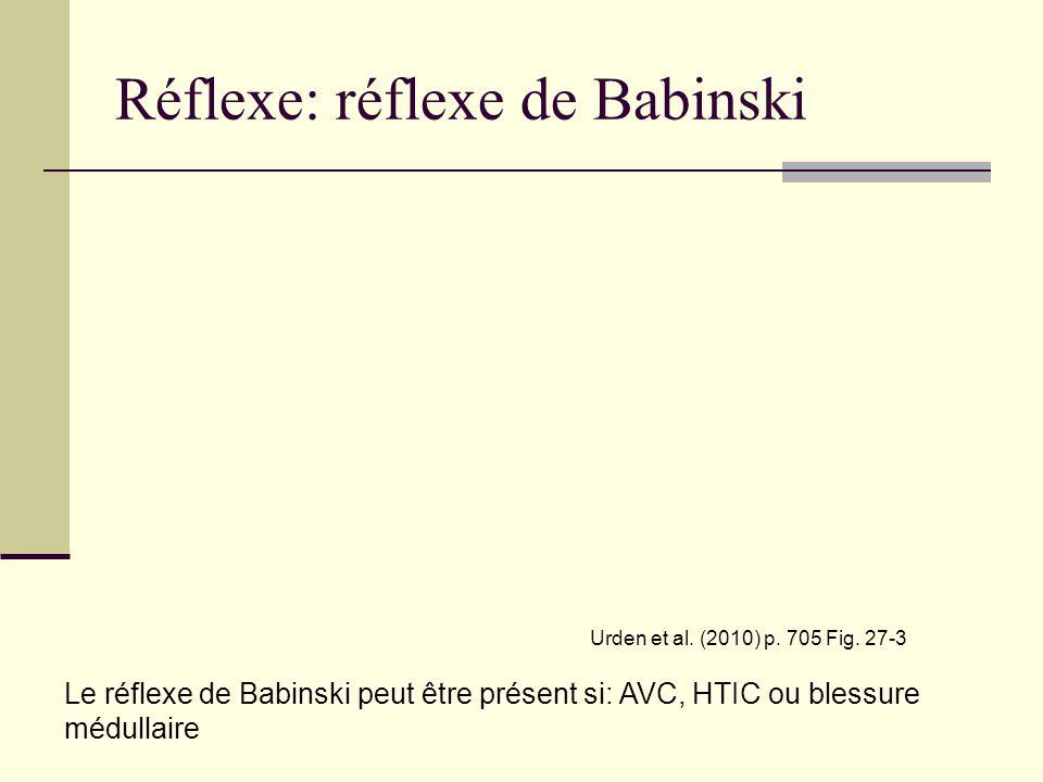 Réflexe: réflexe de Babinski