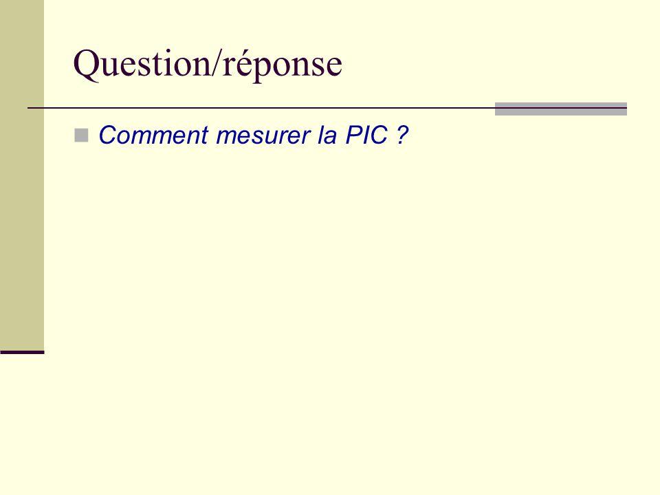 Question/réponse Comment mesurer la PIC