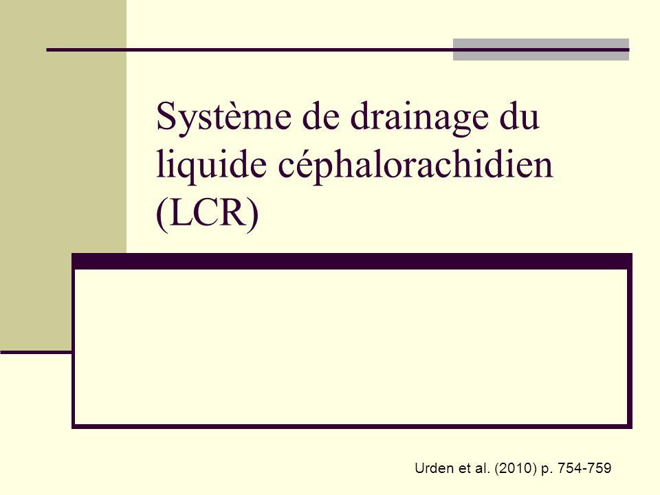 Système de drainage du liquide céphalorachidien (LCR)