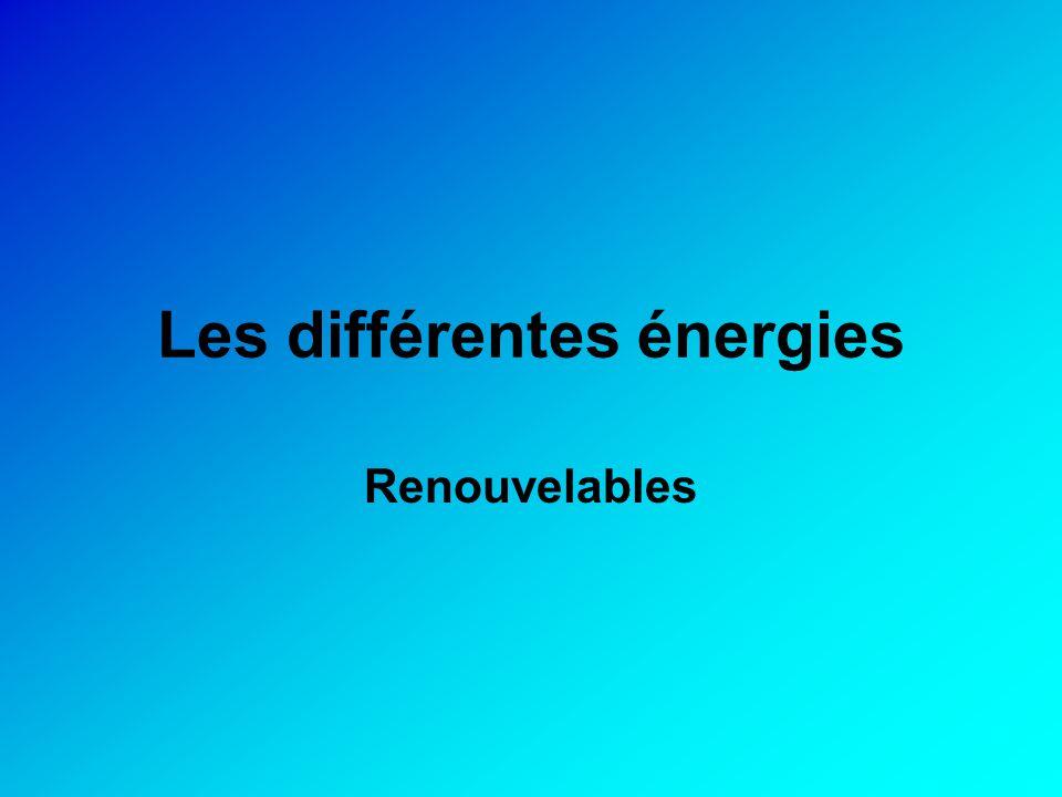 Les différentes énergies