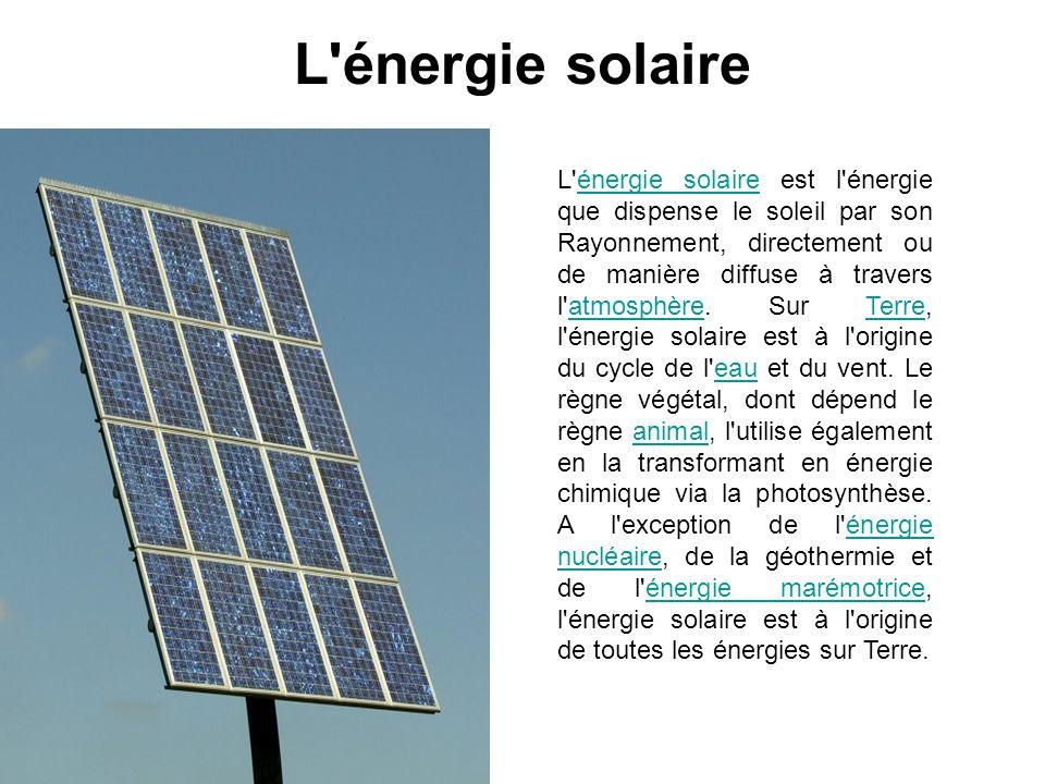 L énergie solaire
