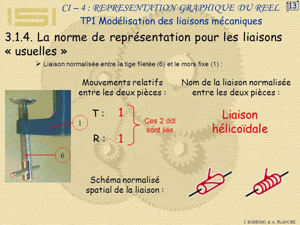 3.1.4. La norme de représentation pour les liaisons « usuelles »