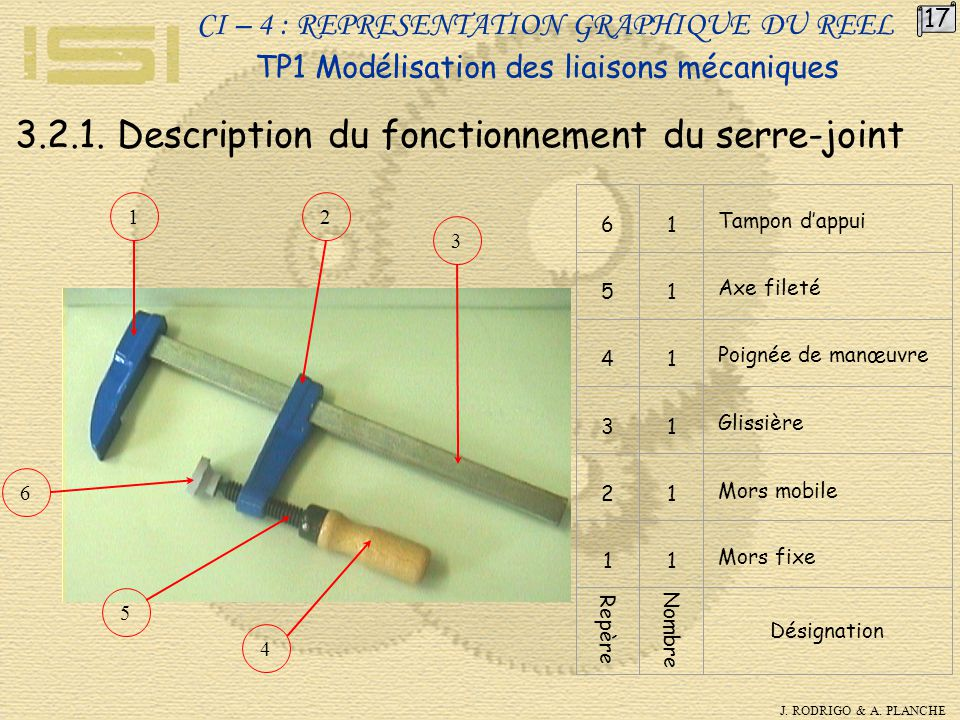 3.2.1. Description du fonctionnement du serre-joint