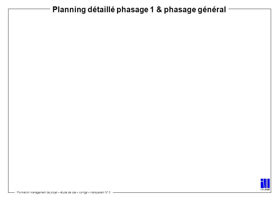 Planning détaillé phasage 1 & phasage général