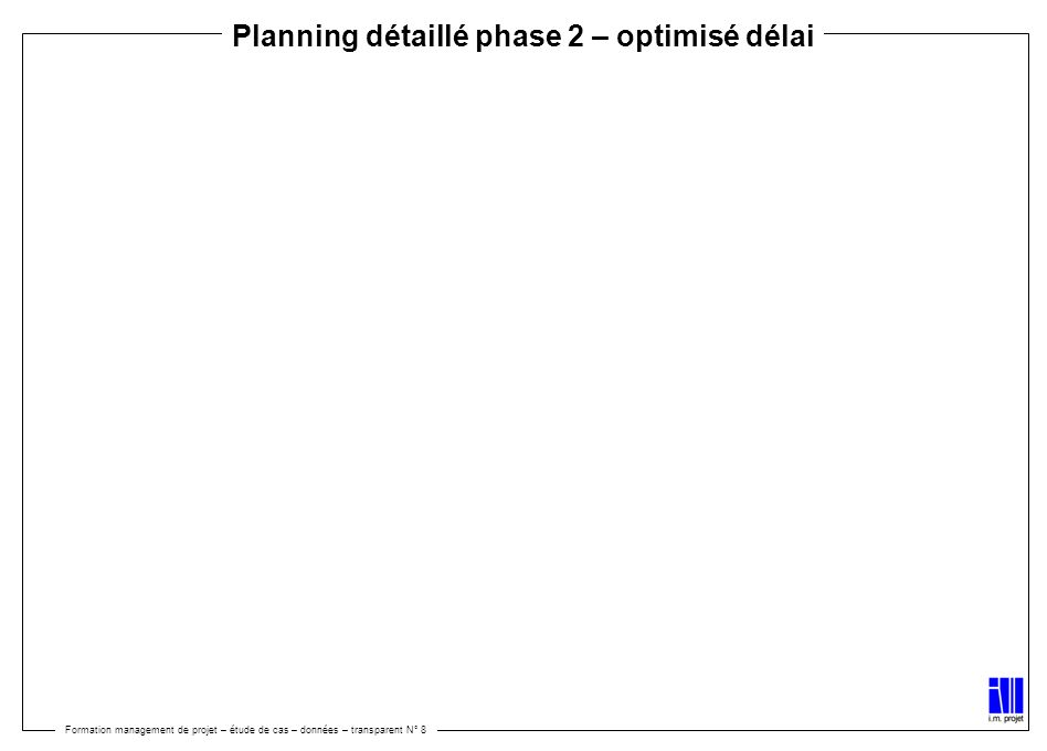 Planning détaillé phase 2 – optimisé délai