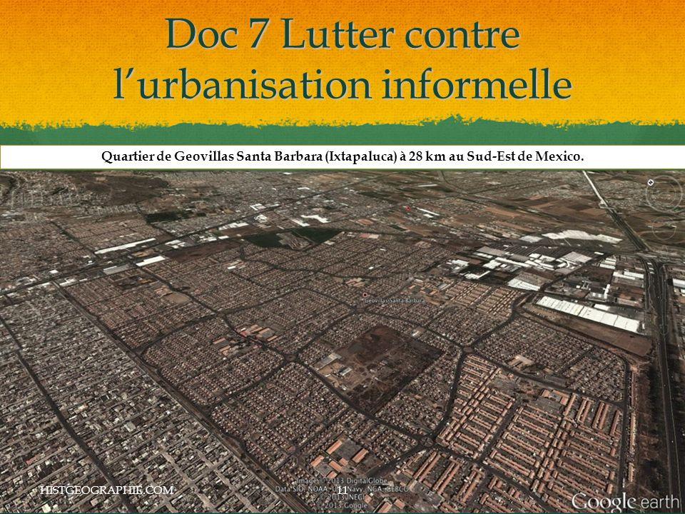 Doc 7 Lutter contre l'urbanisation informelle