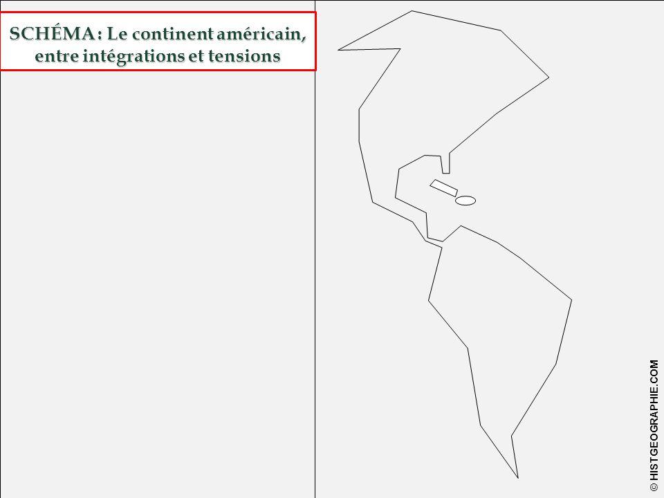 SCHÉMA : Le continent américain, entre intégrations et tensions