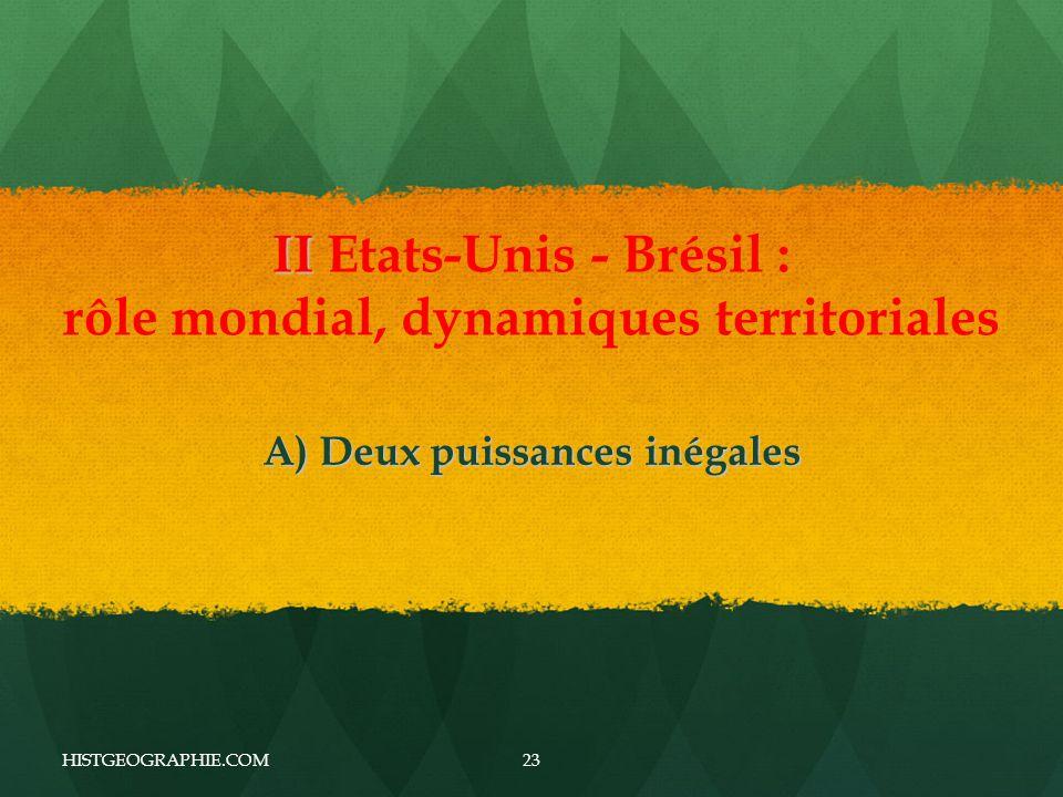 II Etats-Unis - Brésil : rôle mondial, dynamiques territoriales