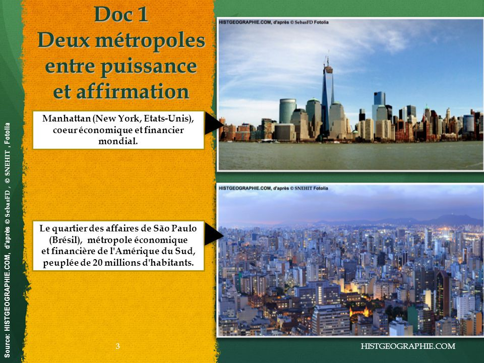 Doc 1 Deux métropoles entre puissance et affirmation