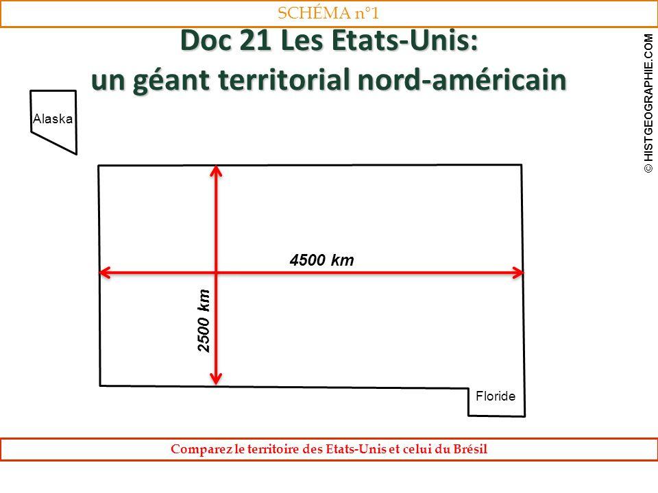 Doc 21 Les Etats-Unis: un géant territorial nord-américain