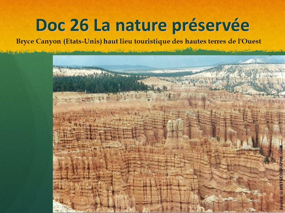 Doc 26 La nature préservée
