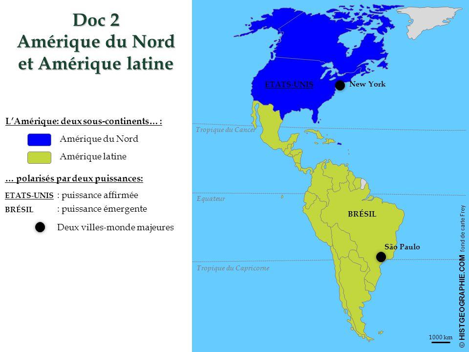 Doc 2 Amérique du Nord et Amérique latine
