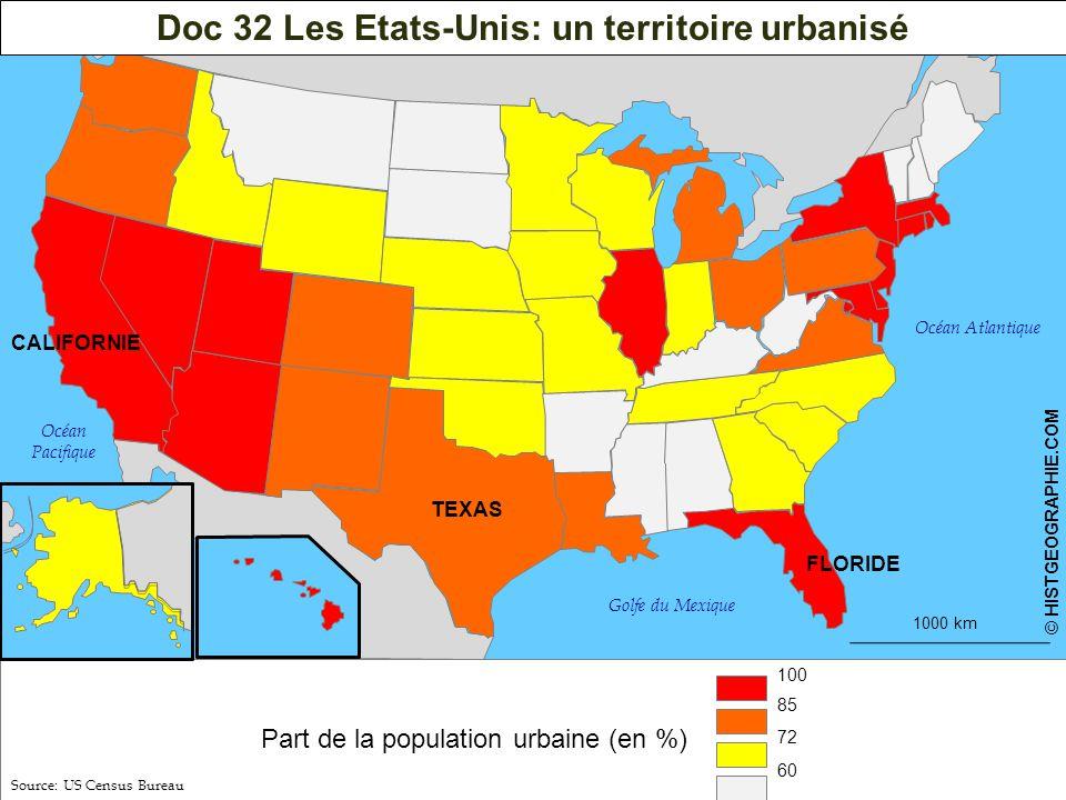 Doc 32 Les Etats-Unis: un territoire urbanisé