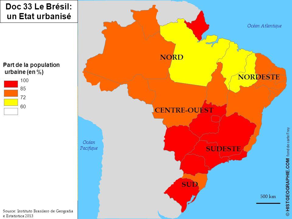 Doc 33 Le Brésil: un Etat urbanisé