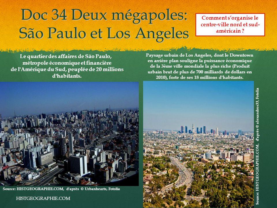 Doc 34 Deux mégapoles: São Paulo et Los Angeles