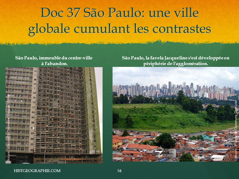 Doc 37 São Paulo: une ville globale cumulant les contrastes