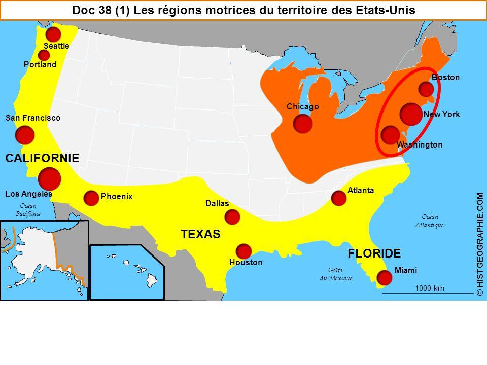 Doc 38 (1) Les régions motrices du territoire des Etats-Unis