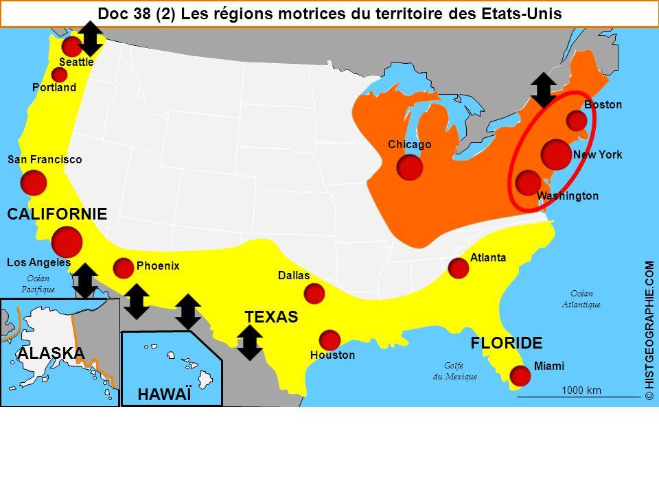 Doc 38 (2) Les régions motrices du territoire des Etats-Unis