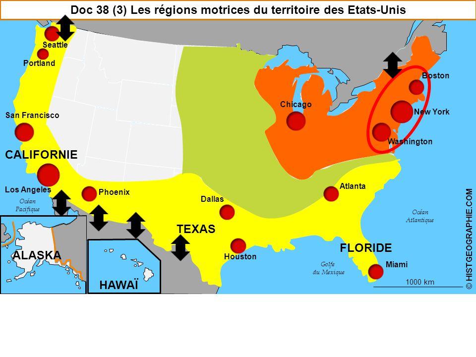 Doc 38 (3) Les régions motrices du territoire des Etats-Unis