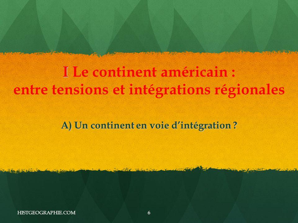I Le continent américain : entre tensions et intégrations régionales