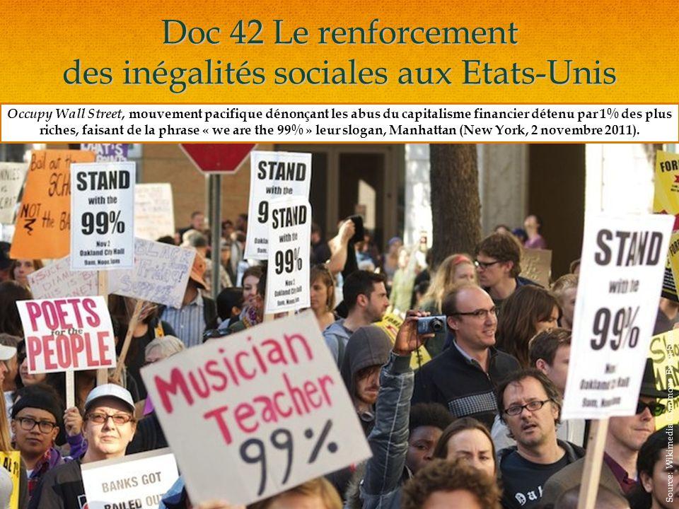 Doc 42 Le renforcement des inégalités sociales aux Etats-Unis